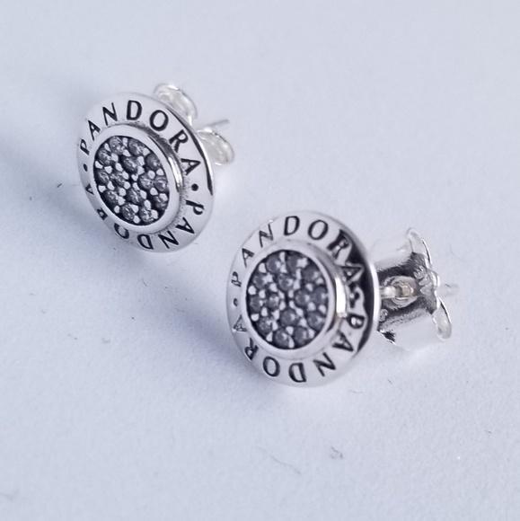 Pandora Jewelry - PANDORA Signature Stud Earrings Silver New w/tags